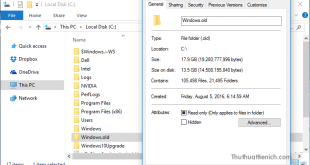 Cách lấy lại hơn 10 GB dung lượng sau khi Windows 10 cài đặt bản cập nhật Anniversary