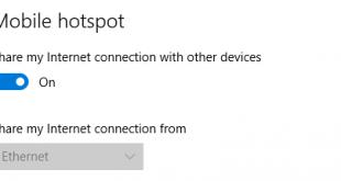 Phát Wifi trên Windows 10 Anniversary chỉ với 1 Click