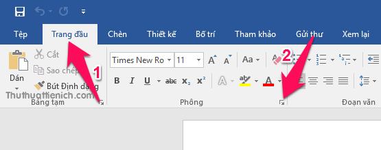 Cách cài đặt Font chữ, cỡ chữ mặc định Word & Excel 2016