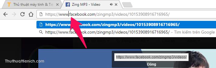 Dán địa chỉ URL vừa copy lên thanh địa chỉ của trình duyệt web