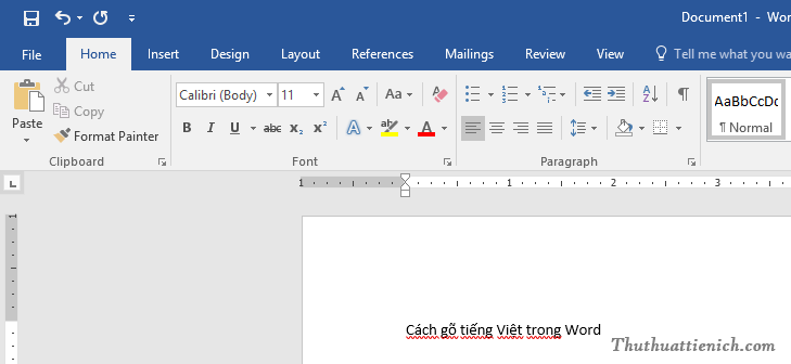 Cách gõ tiếng Việt trong Word