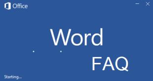 Word FAQ