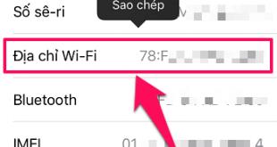 Làm thế nào để xem địa chỉ MAC của điện thoại?