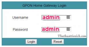 Modem Gpon: Hướng dẫn đăng nhập, đổi mật khẩu Wifi, giới hạn Wifi