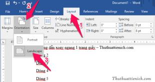 Cách xoay ngang 1 trang giấy trên Word, Excel & PowerPoint