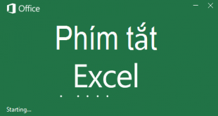 Phím tắt Excel