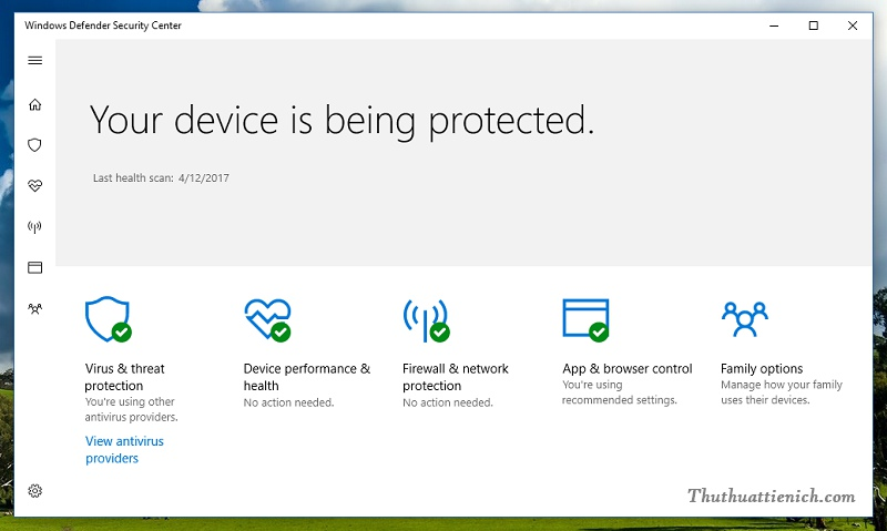 Windows Defender trên Windows 10 Creators