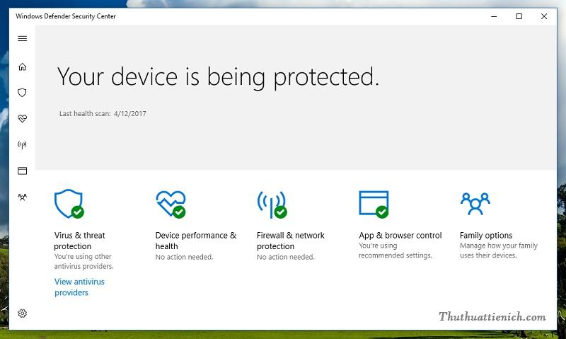 Windows Defender trên Windows 10 Creators