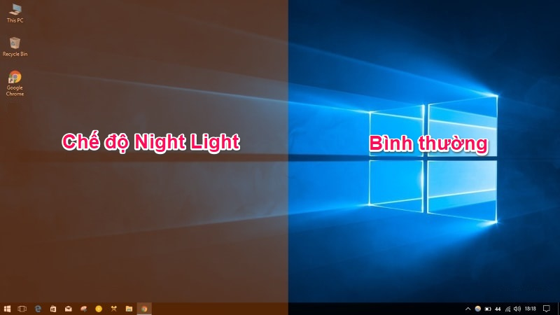 Chế độ Night Light trên Windows 10 Creators