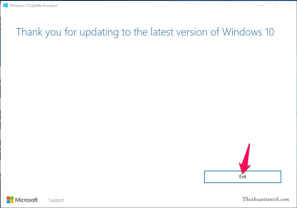 Cập nhật lên phiên bản Windows 10 Creators thành công
