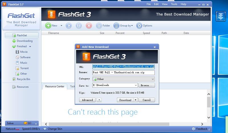 Sử dụng Flashget thay thế IDM