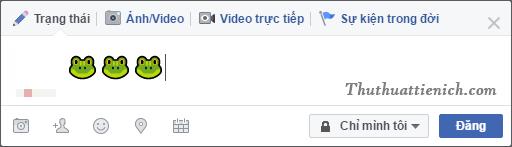 Sau đó quay trở lại Facebook, nhấn chuột phải chọn Dán (hoặc Paste)