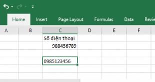 Cách viết thêm số 0 vào đầu, viết số điện thoại trong Excel