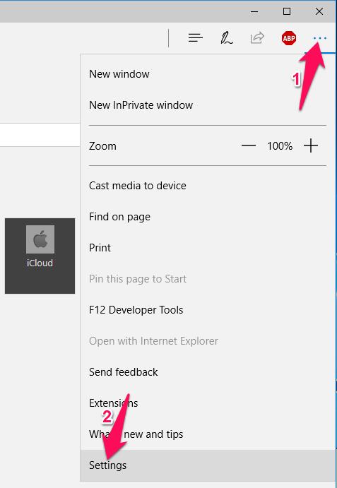 Bạn nhấn nút 3 chấm ngang góc trên cùng bên phải của trình duyệt Edge, chọn Settings