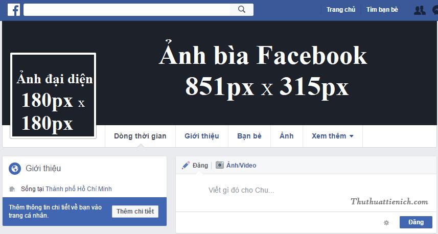 Kích thước ảnh bìa, ảnh đại diện Facebook chuẩn nhất