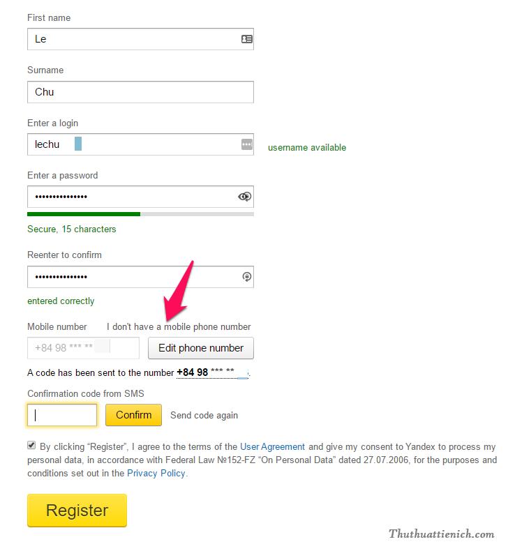 Nếu không nhận được mã code thì bạn nhấn nút Send code again để hệ thống gửi lại mã code hoặc nhấn vào dòng I don't have a mobile phone number để chọn cách xác nhận khác