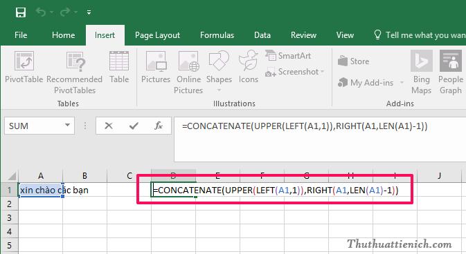 Cách đổi chữ thường sang chữ hoa và ngược lại trong Excel