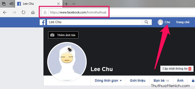 Cách lấy link Facebook trên máy tính