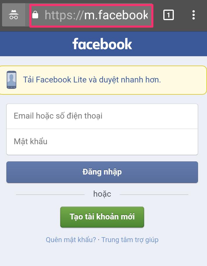 tải Video Facebook vào điện thoại Android