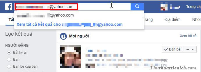 Tìm bạn bè qua Email