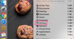 Airdrop trên mac