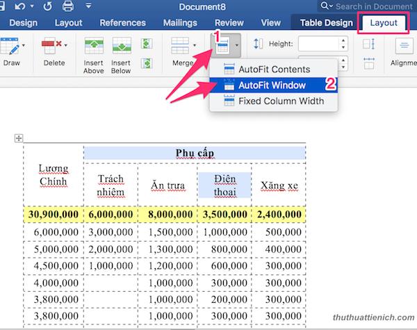 layout-> autofit-> autofit window