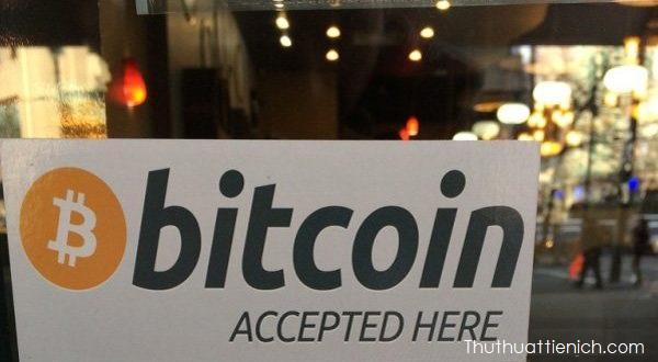 Một cửa hàng chấp nhận thanh toán bằng Bitcoin
