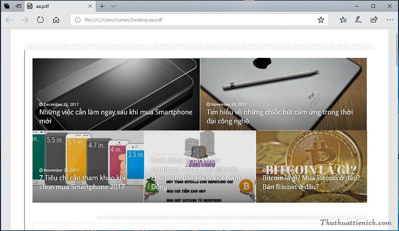 Đọc file PDF bằng trình duyệt web