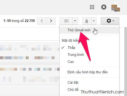 Chuyển Gmail sang giao diện mới