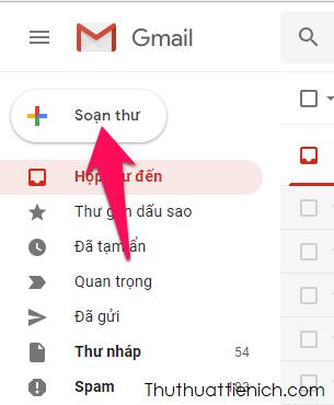Nhấn nút Soạn thư để soạn email mới như bình thường