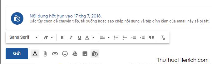 Bạn có thể hủy hoặc chỉnh sửa tính năng email bí mật này nếu muốn