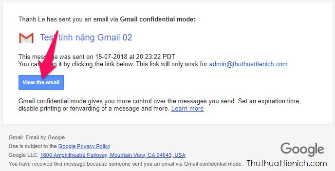 Với Gmail