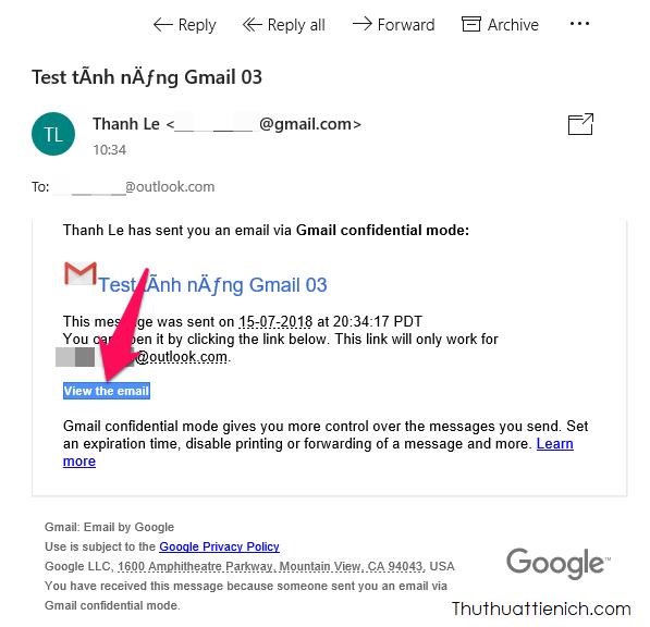 Với các dịch vụ email khác ngoài Gmail