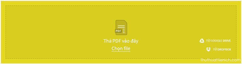 Tải lên file PDF muốn chuyển đổi