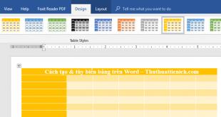 Hướng dẫn cách tạo và tùy biến bảng trên Word