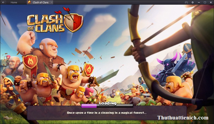Chơi game Clash of Clans PC bằng BlueStacks