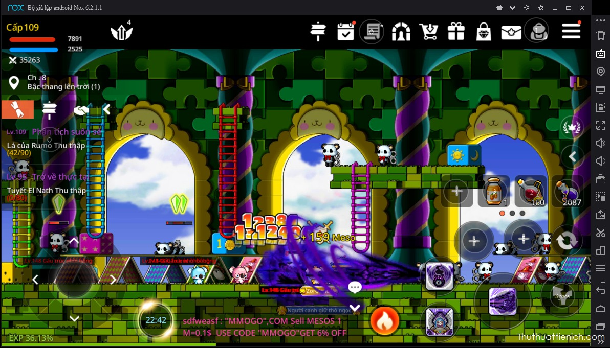 Choi game MapleStory M bang NoxPlayer