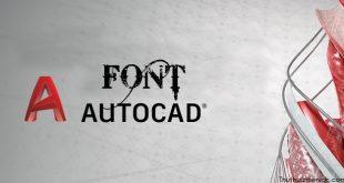 Tải Font AutoCad Full