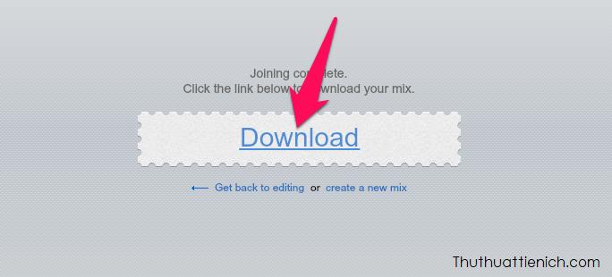 Nhấn nút Download để tải nhạc về máy tính