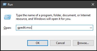 Nhấn tổ hợp phím Windows + R để mở cửa sổ lệnh Run hoặc nhấn chuột phải lên nút Start chọn Run. Nhập lệnh gpedit