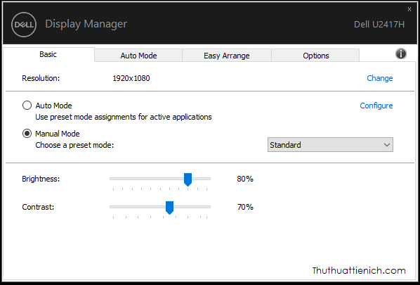 Phần mềm Dell Display Manager