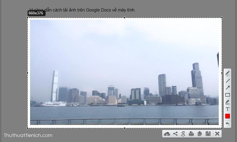 Chụp ảnh màn hình hình ảnh trên Google Docs