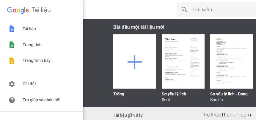 Google tài liệu, trang tính và trang trình bày