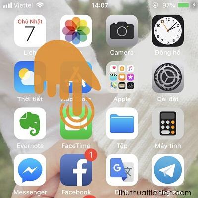 Mở ứng dụng Facetime