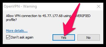 Nếu có cửa sổ xác nhận hiện lên, bạn chọn Yes