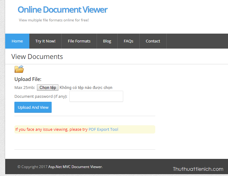 onlinedocumentviewer giúp được file Word, Excel, PowerPoint