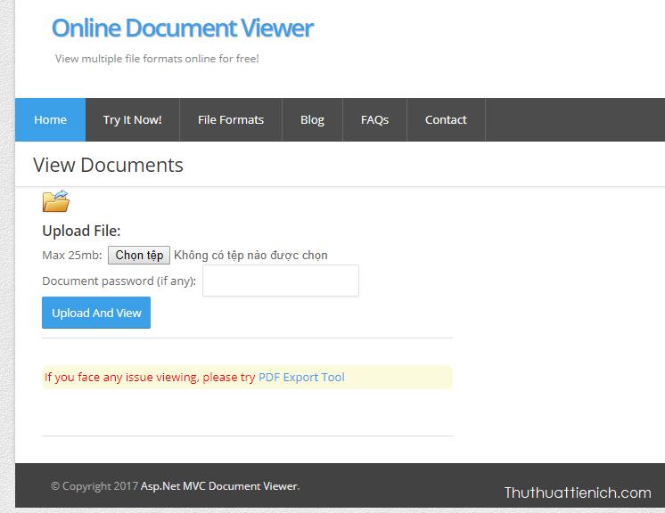 onlinedocumentviewer giúp được file Word, Excel, PowerPoint