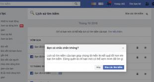 Hướng dẫn cách xóa lịch sử tìm kiếm trên Facebook