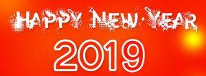 Ảnh bìa Facebook tạo hình chữ Happy New Year