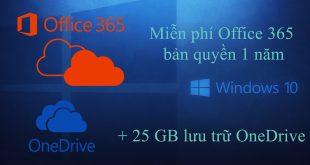 Hướng dẫn cách đăng ký dùng thử Office 365 ProPlus bản quyền miễn phí 1 năm + 25GB Onedrive